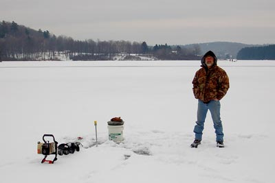Ice fishing Wellsboro, PA