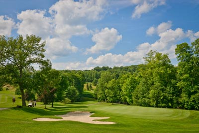Summer golfing days in Wellsboro, PA