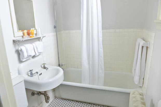 Historic Penn Wells Hotel Guest Bath