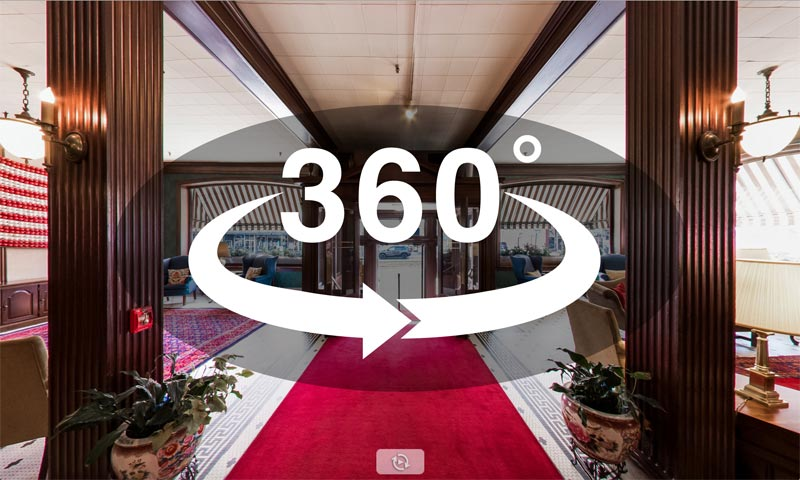 Clickable thumbnail of 360˚ view